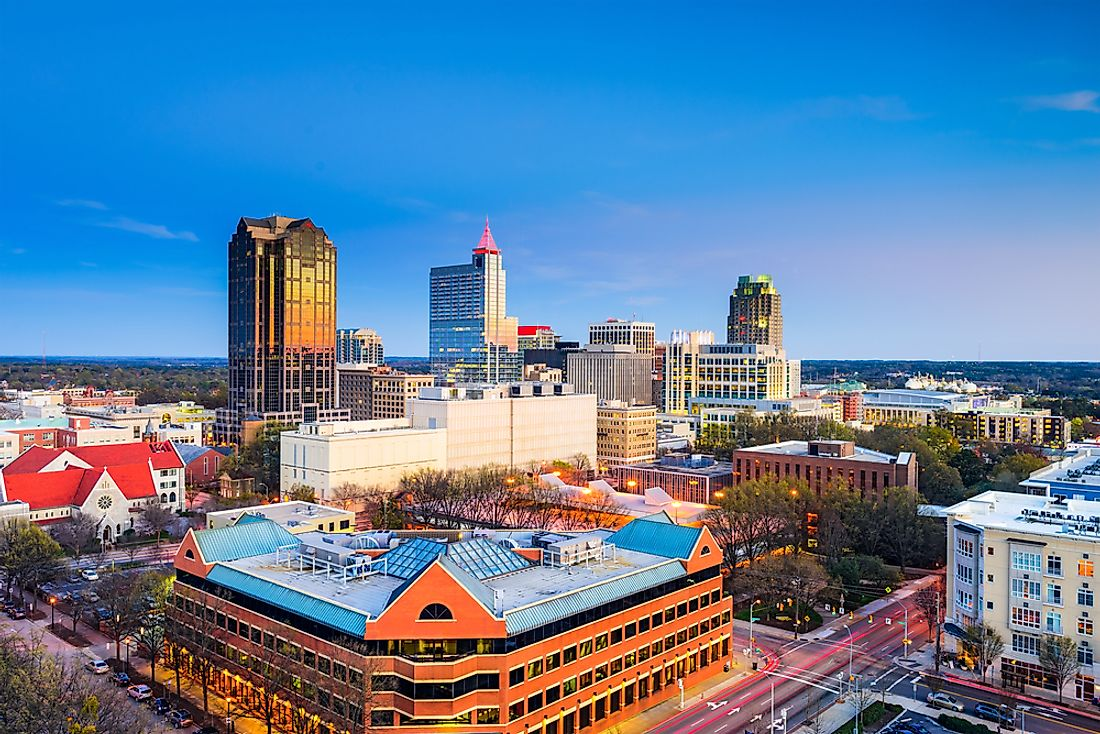 Raleigh, one of the largest cities in North Carolina.