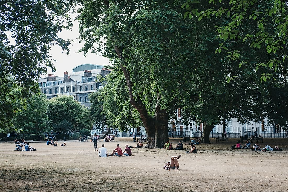 Lincoln's Inn Fields, London. Editorial credit: Alena.Kravchenko / Shutterstock.com.