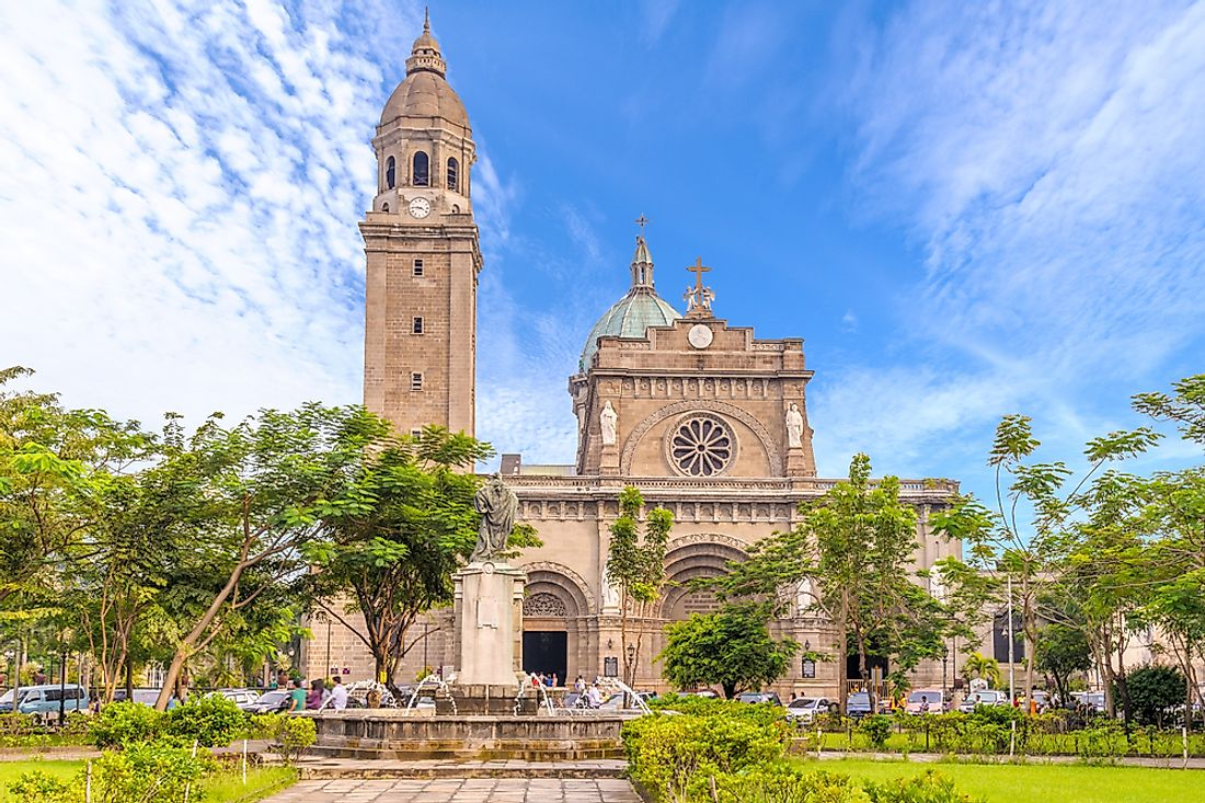 The Manila Metropolitan Cathedral and Basilica is one of the most well-known Catholic churches in the Philippines.