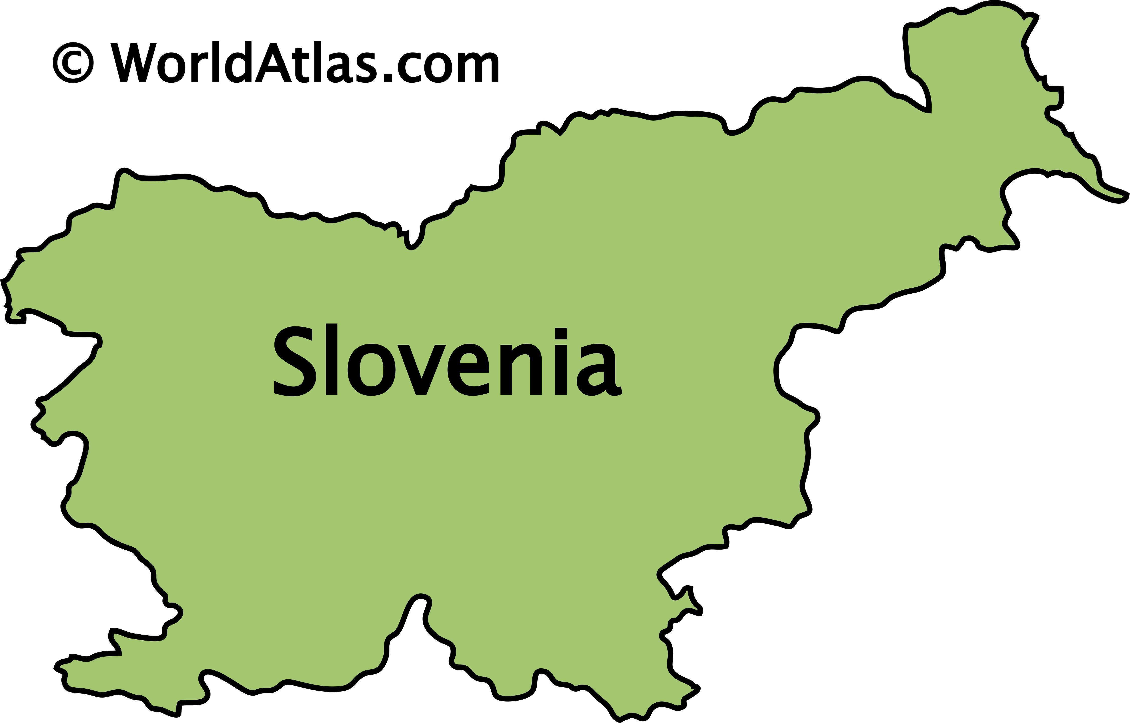 Outline Map of Slovenia