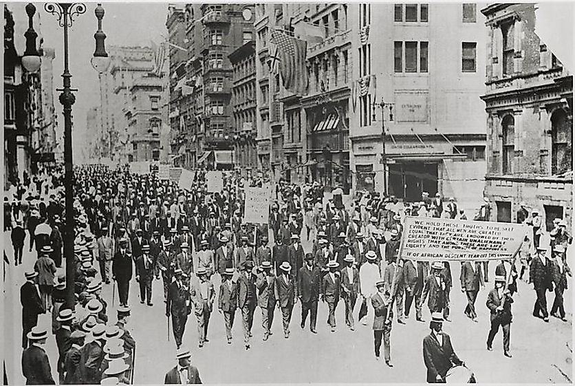 The Silent Parade of 1917. Source: the New York Public Library Digital Collections.
