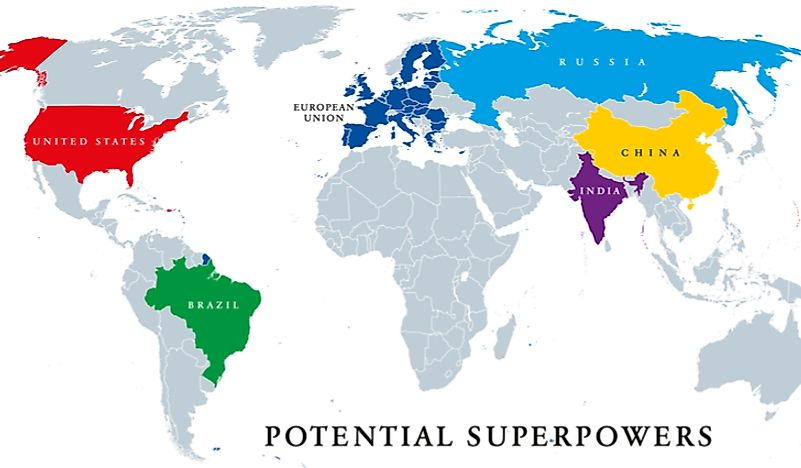 Countries that are considered to be global superpowers.
