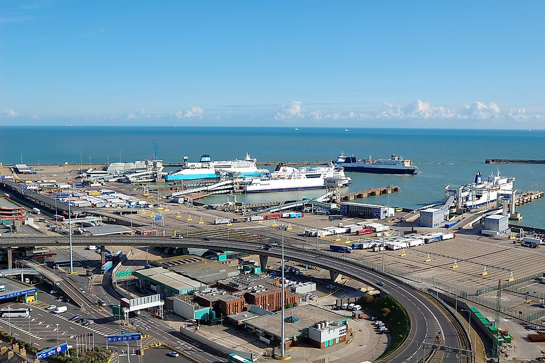 The Port of Dover is the busiest port in Europe.