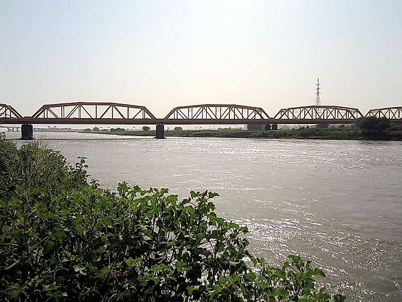 The Nile River near the confluence of the Blue Nile and White Nile in Khartoum, Sudan.