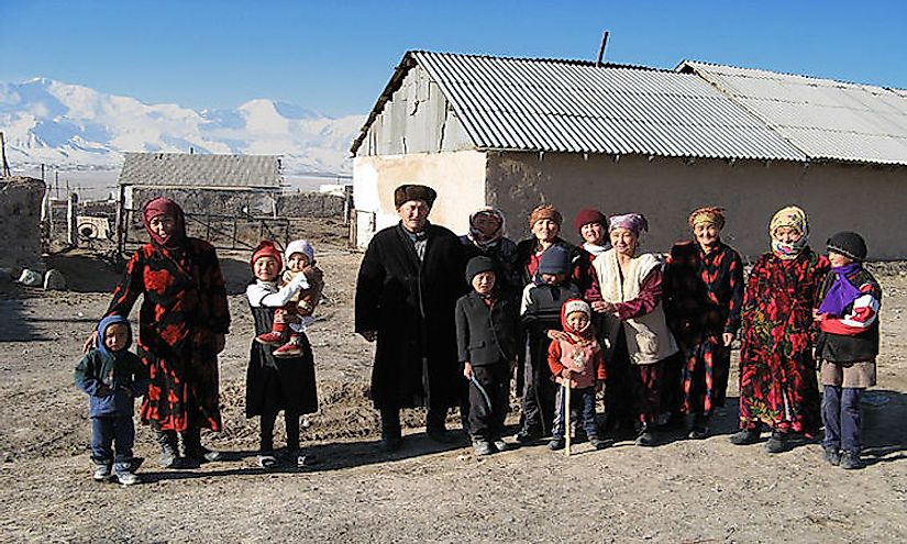 Kyrgyz family in the village of Sary-Mogol, Osh province