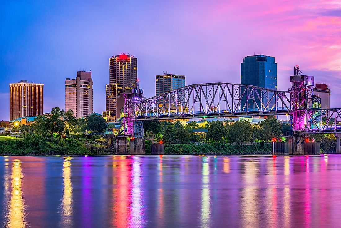 Little Rock, the largest city in Arkansas.