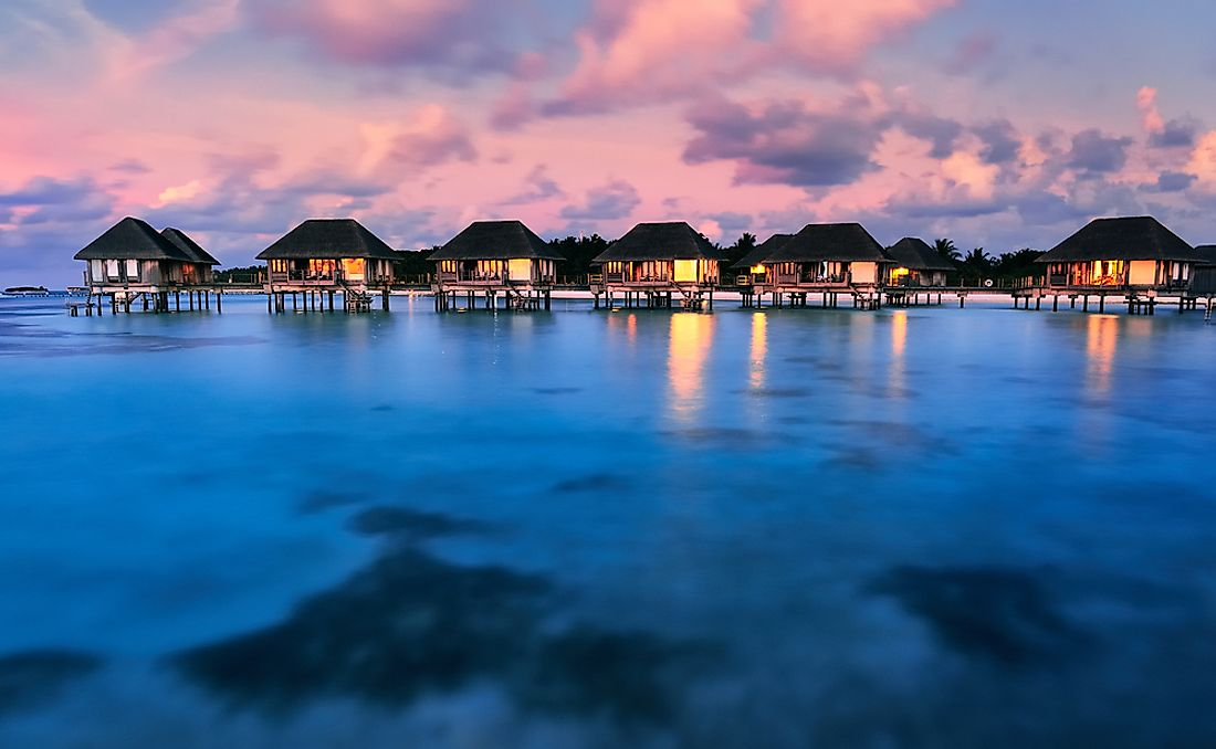 The Maldives, the least populated country in Asia.