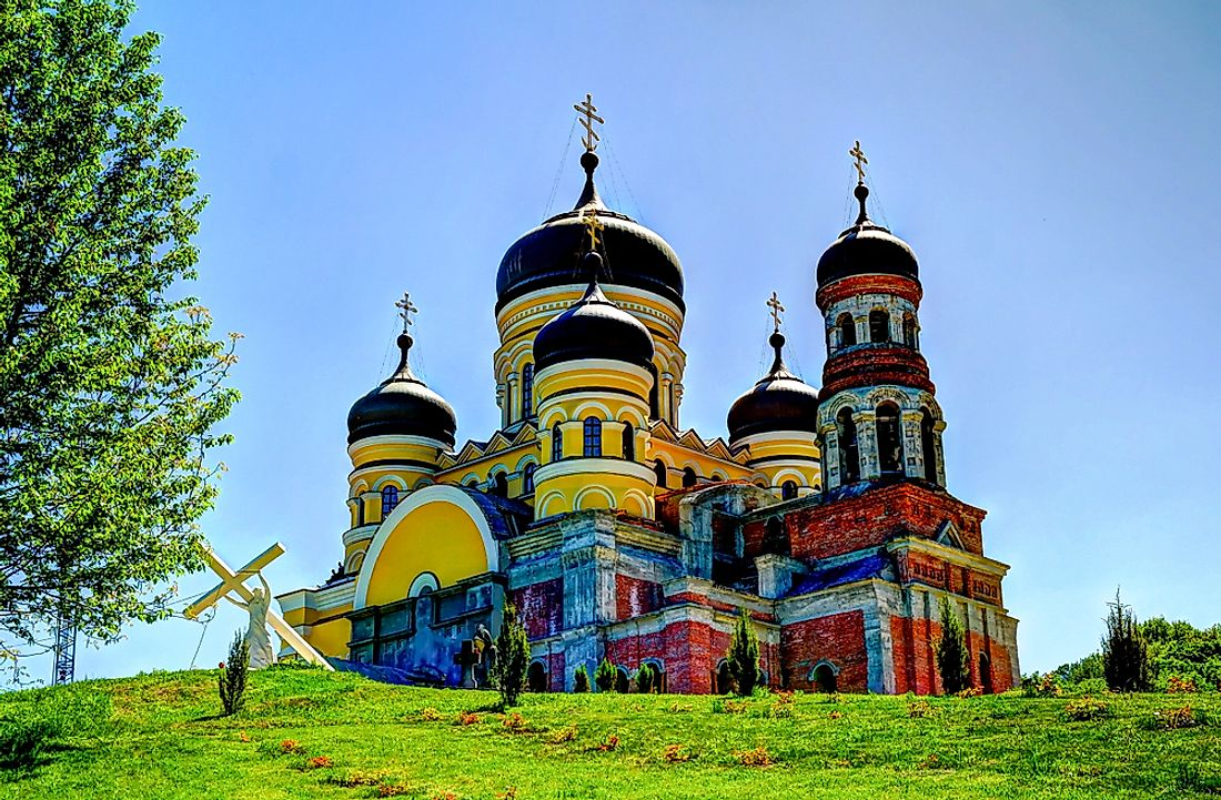 An Orthodox church in Moldova.