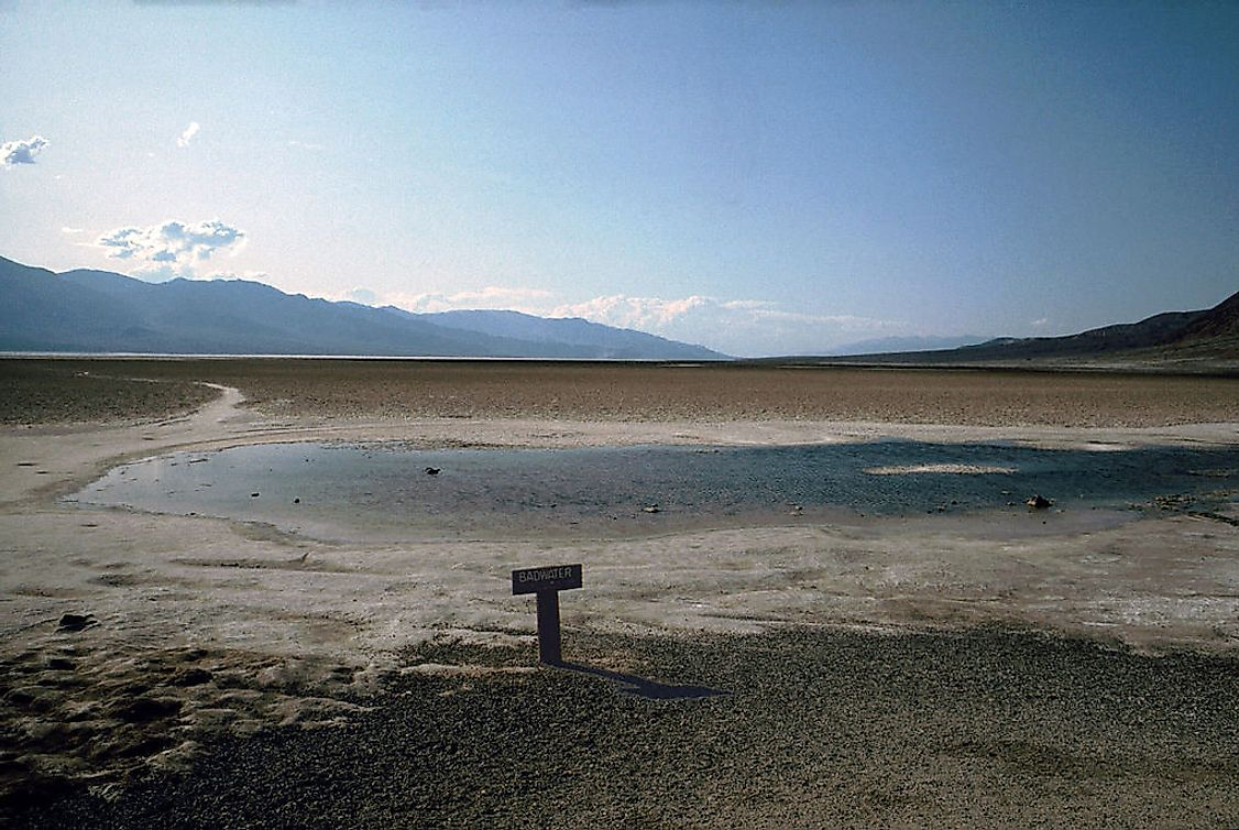 Badwater Basin in Death Valley, the lowest point in the US.