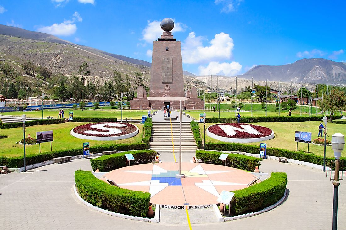 The equator near Quito, Ecuador.