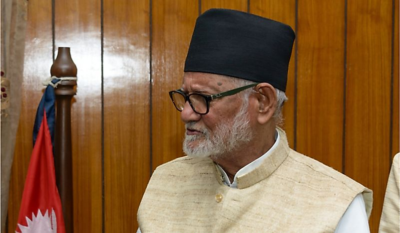 Sushil Koirala, former prime minister of Nepal. Editorial credit: Dutourdumonde Photography / Shutterstock.com.