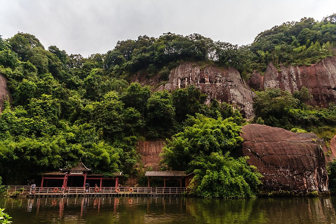 Mount Longhu, one of the sacred mountains of Taoism in China.