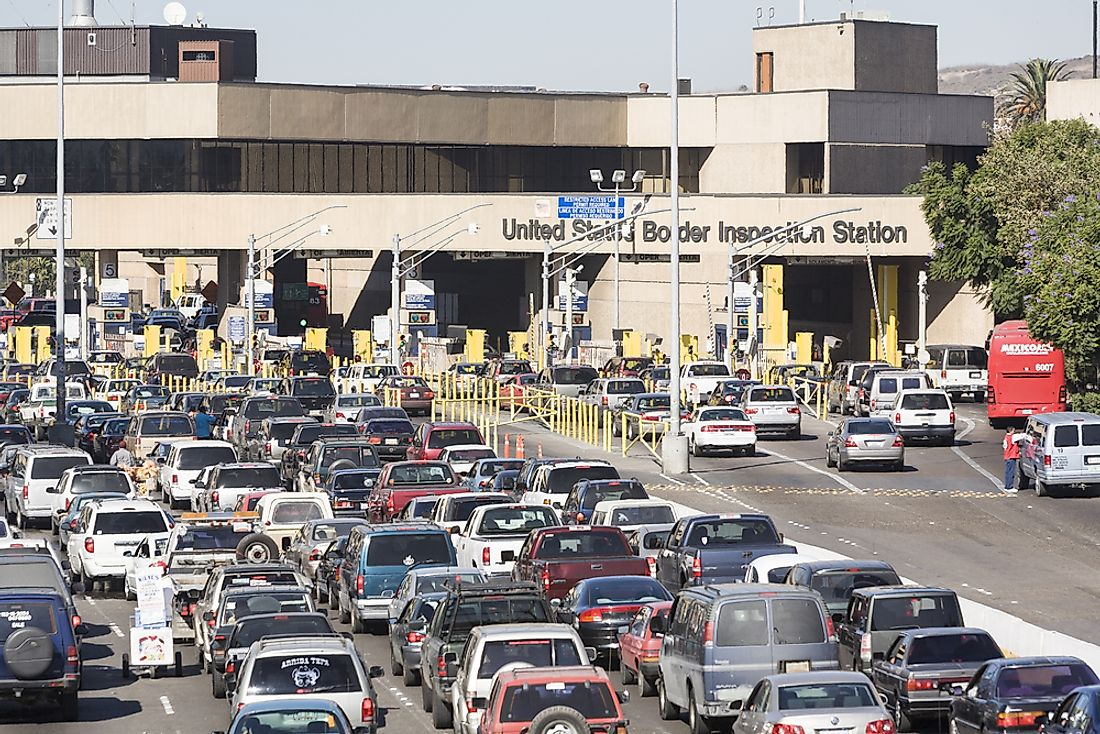 The San Ysidro Port of Entry. Editorial credit: Arthur Greenberg / Shutterstock.com.