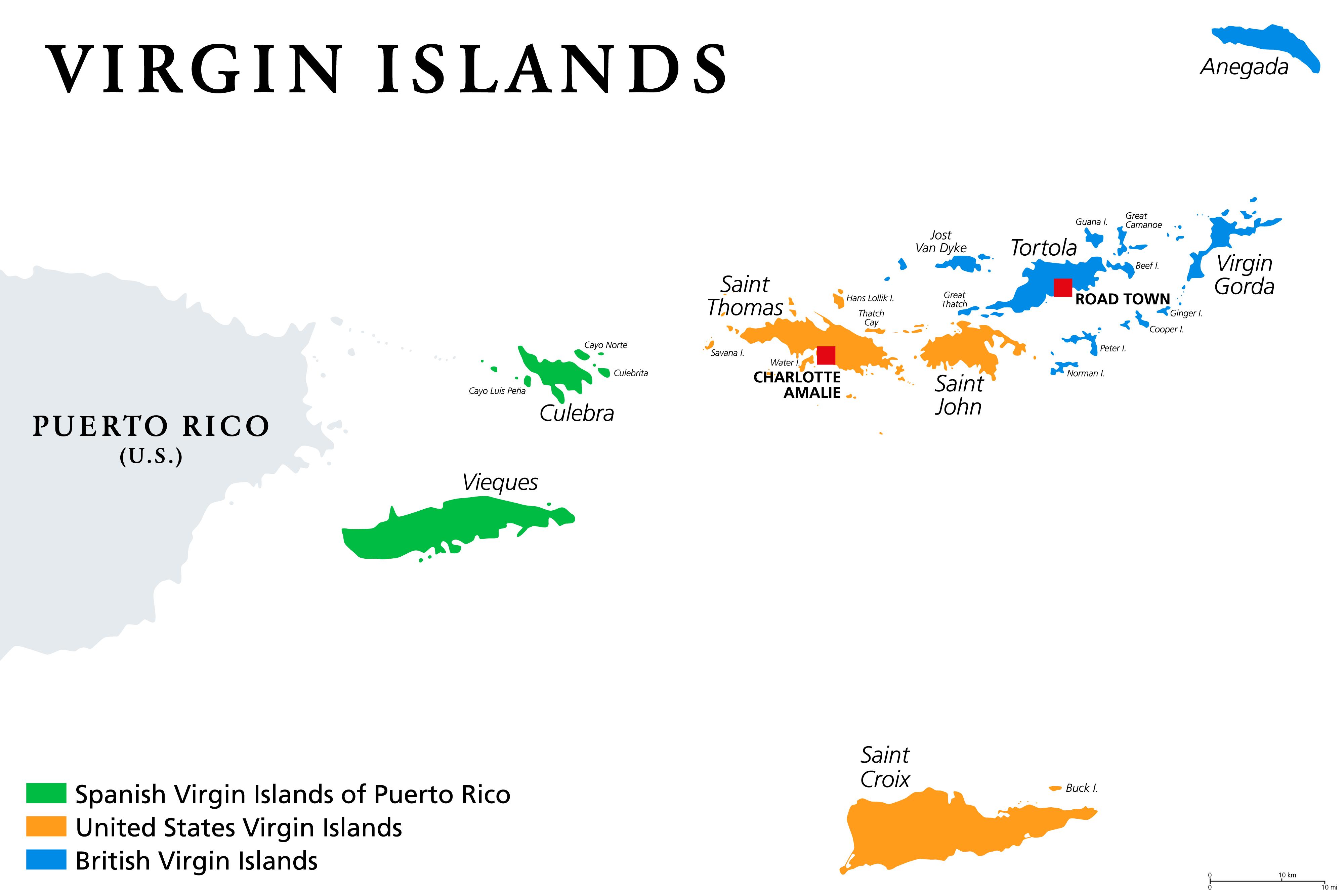 Us Virgin Islands Maps Facts World Atlas