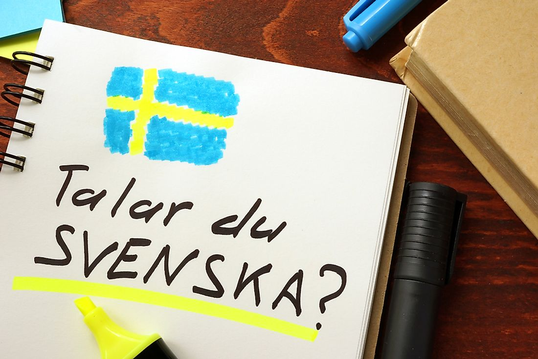 Swedish is the official language of Sweden.