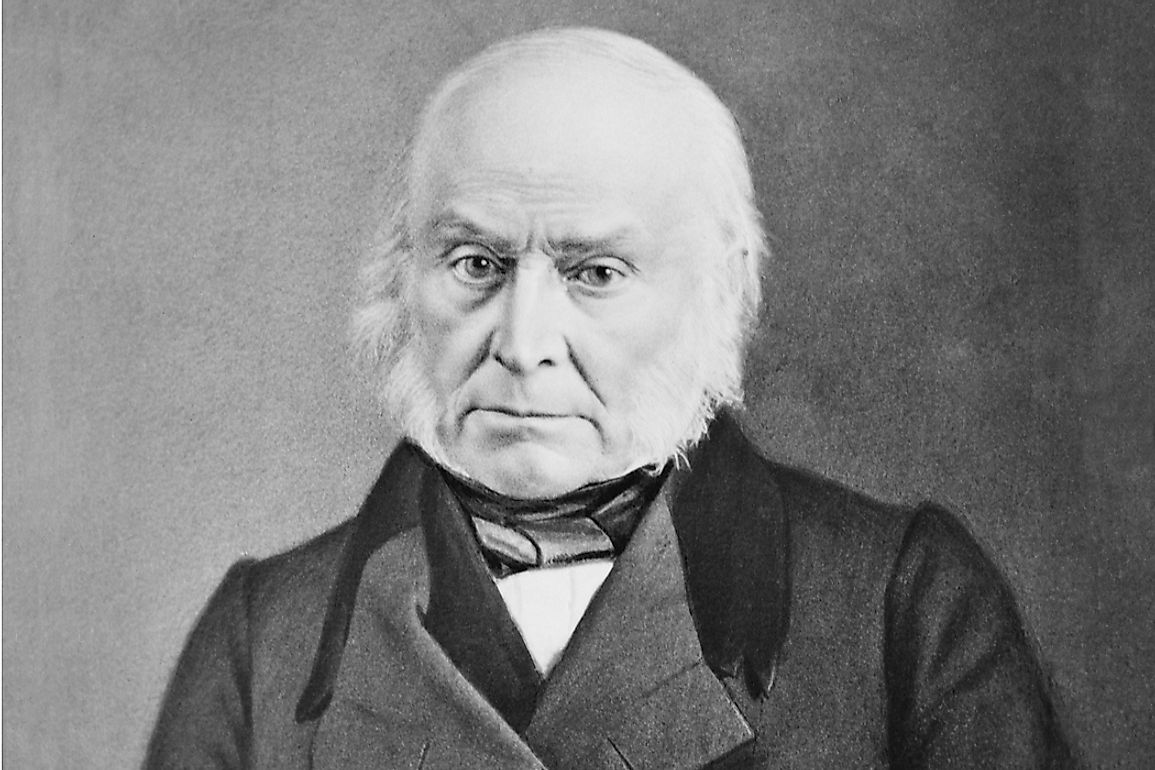 Pictured here, in 1843 John Quincy Adams also became the first president to have his picture taken.
