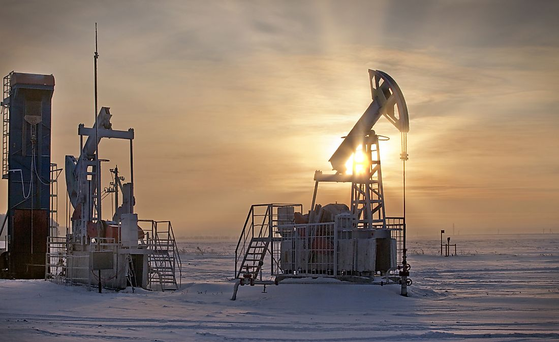 Oil being extracted in Russia. By a wide margin, Russia is Europe's largest producer of oil.