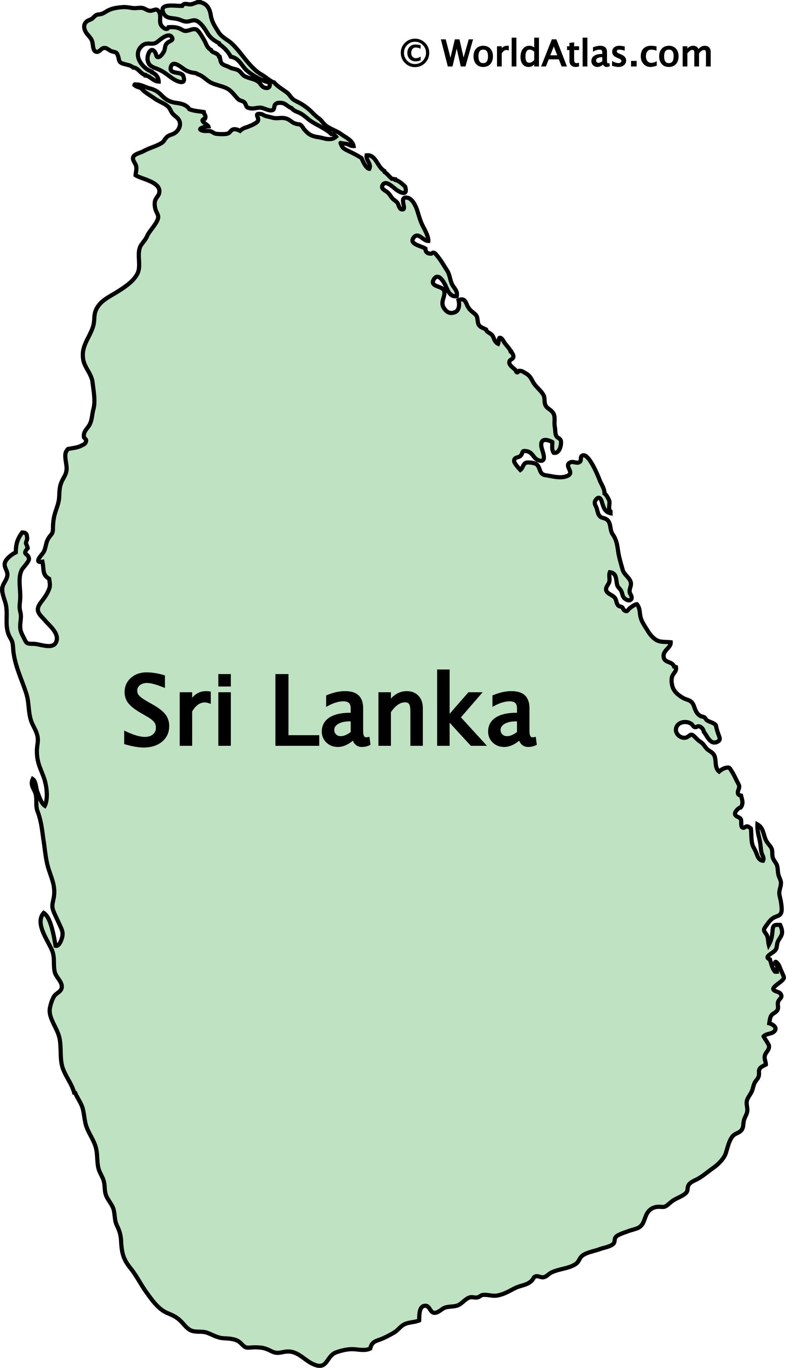 Outline Map of Sri Lanka