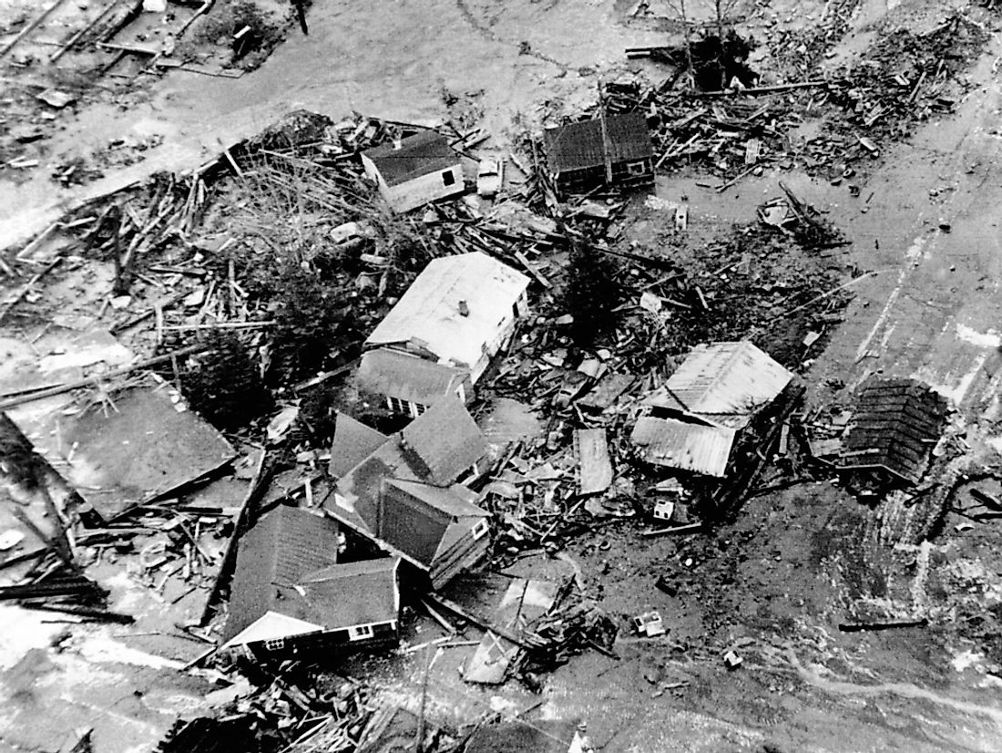 The 1964 earthquake in Alaska experienced some of the most powerful soil liquefaction in US history.