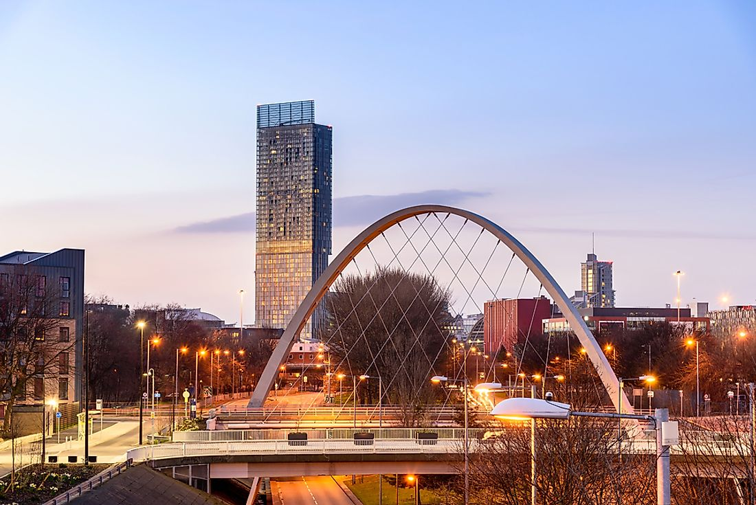Manchester, the third largest city in England.