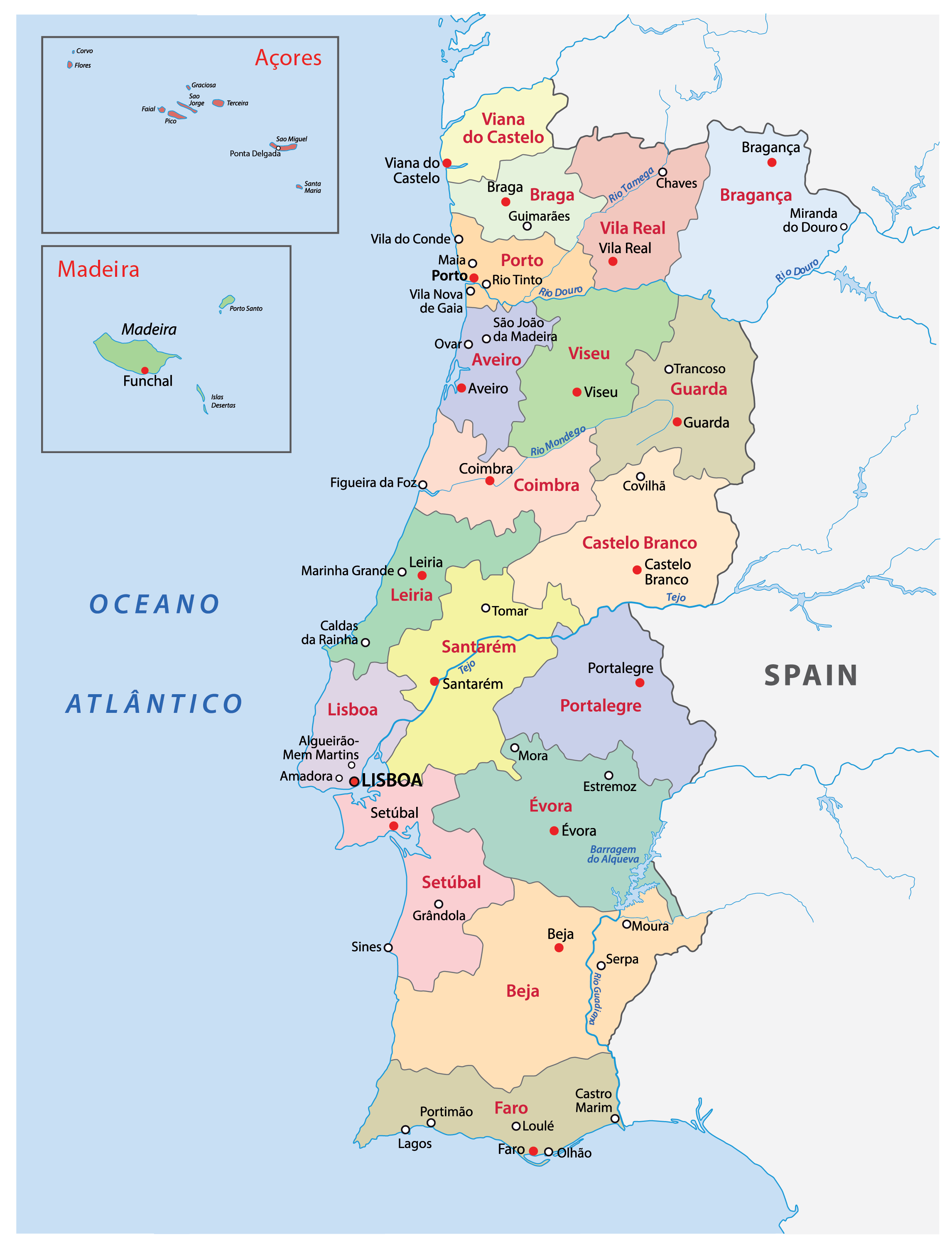 Portugal Maps Facts World Atlas