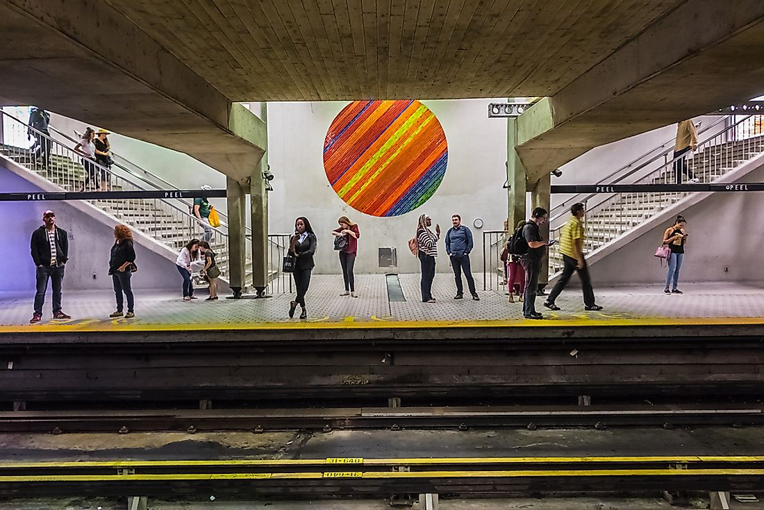 Station of the Montreal metro. Editorial credit: Kiev.Victor / Shutterstock.com.