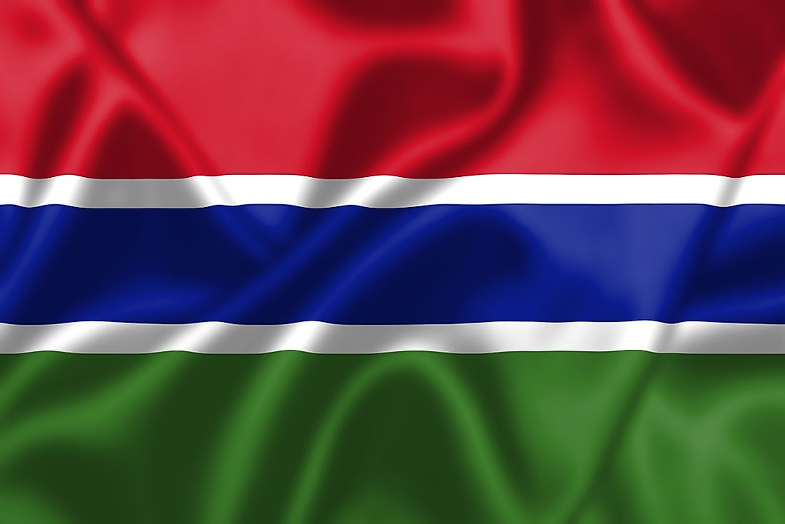 The flag of the Gambia.