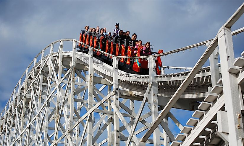 Scenic Railway in Melbourne, Australia, is one of the oldest roller coasters in the world.