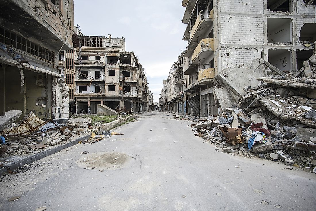 The GPI figures from 2018 show that Syria is the most dangerous county in the world with an index score of 3.600 followed by Afghanistan with 3.585.