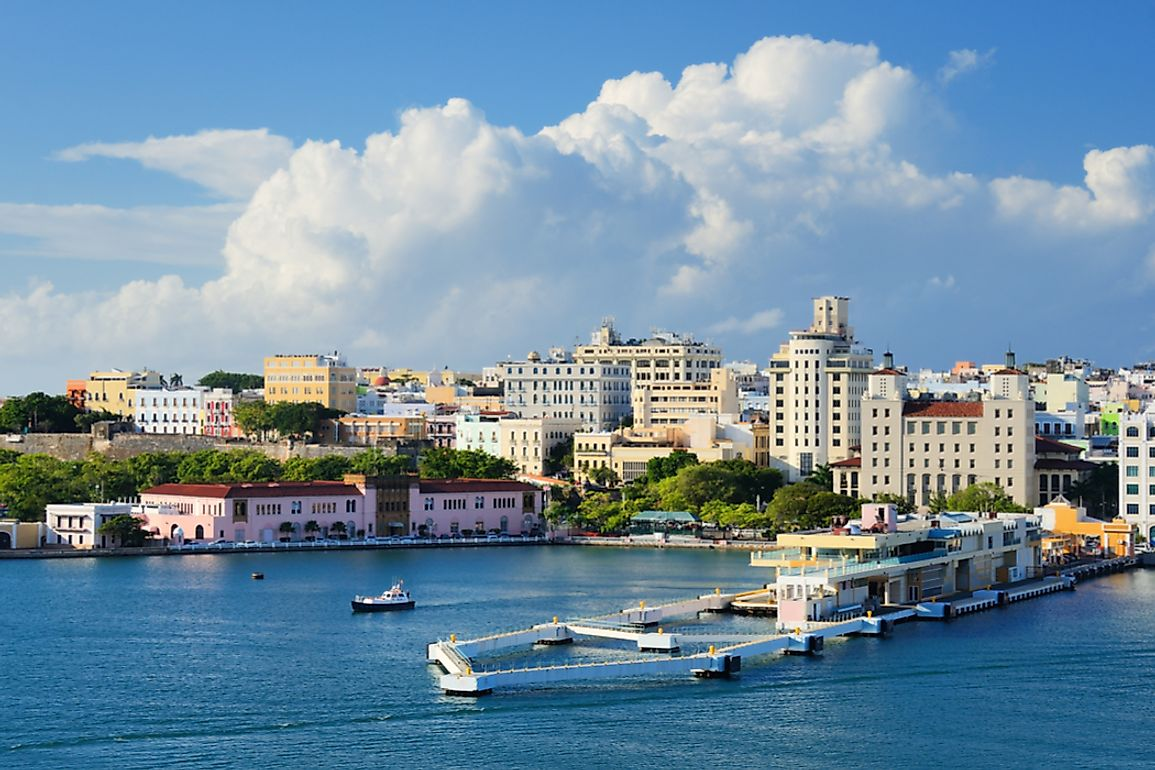 The mouth of San Juan Harbour, Capital City of Puerto Rico.