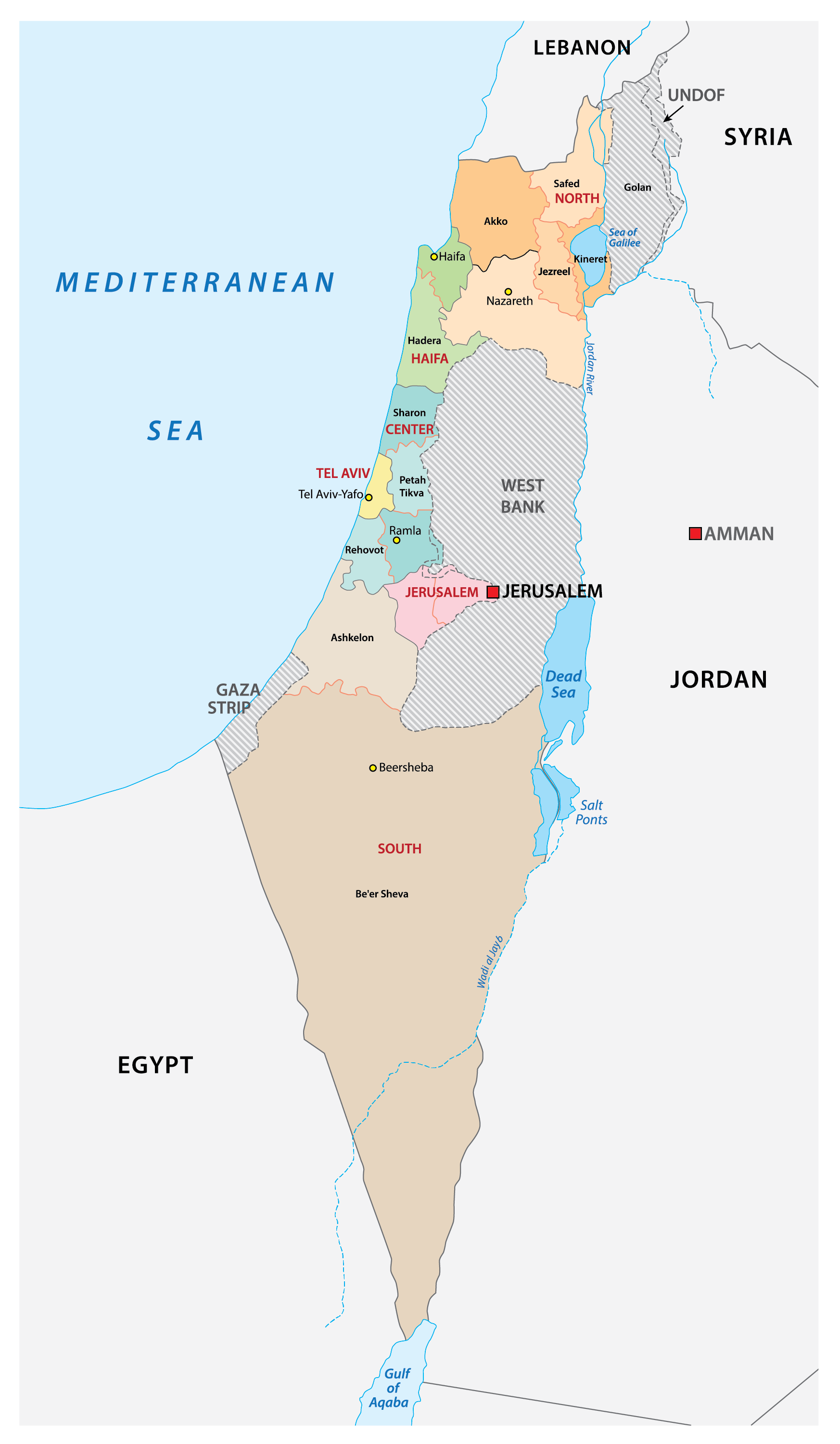 Image of: Israel Maps Facts World Atlas