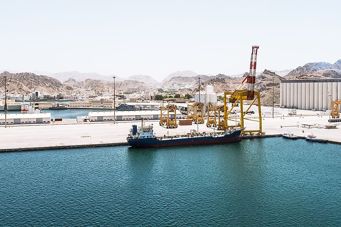 A container port in Jordan.