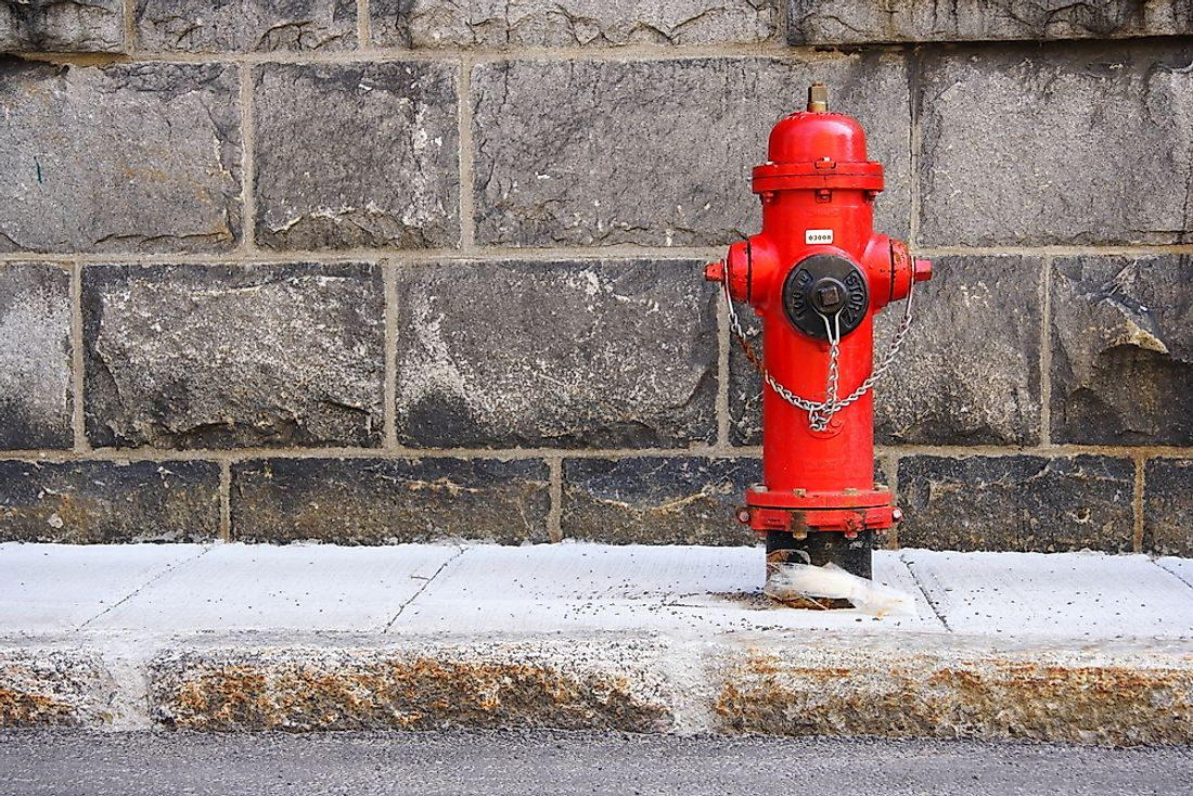 Fire hydrants give quicker access to water which in turn lead to quicker extinguishing of fires.