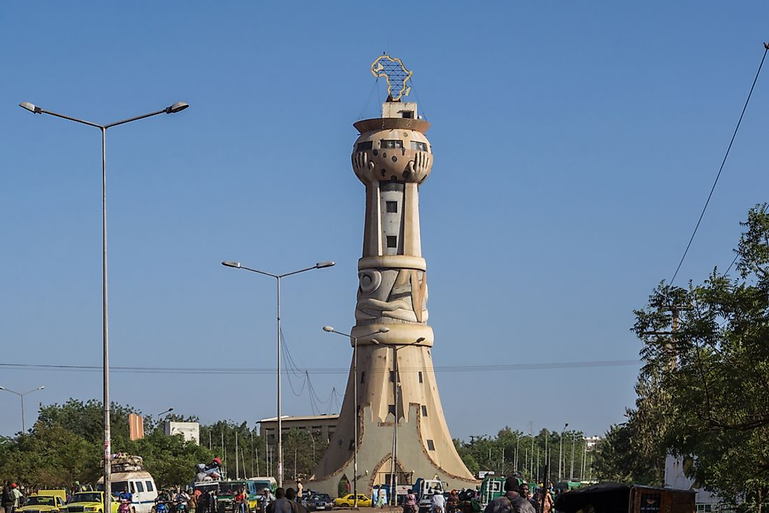 The Tower of Africa in Bamako, Mali.