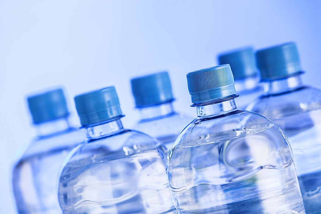 Bottled water is popular all over the world.