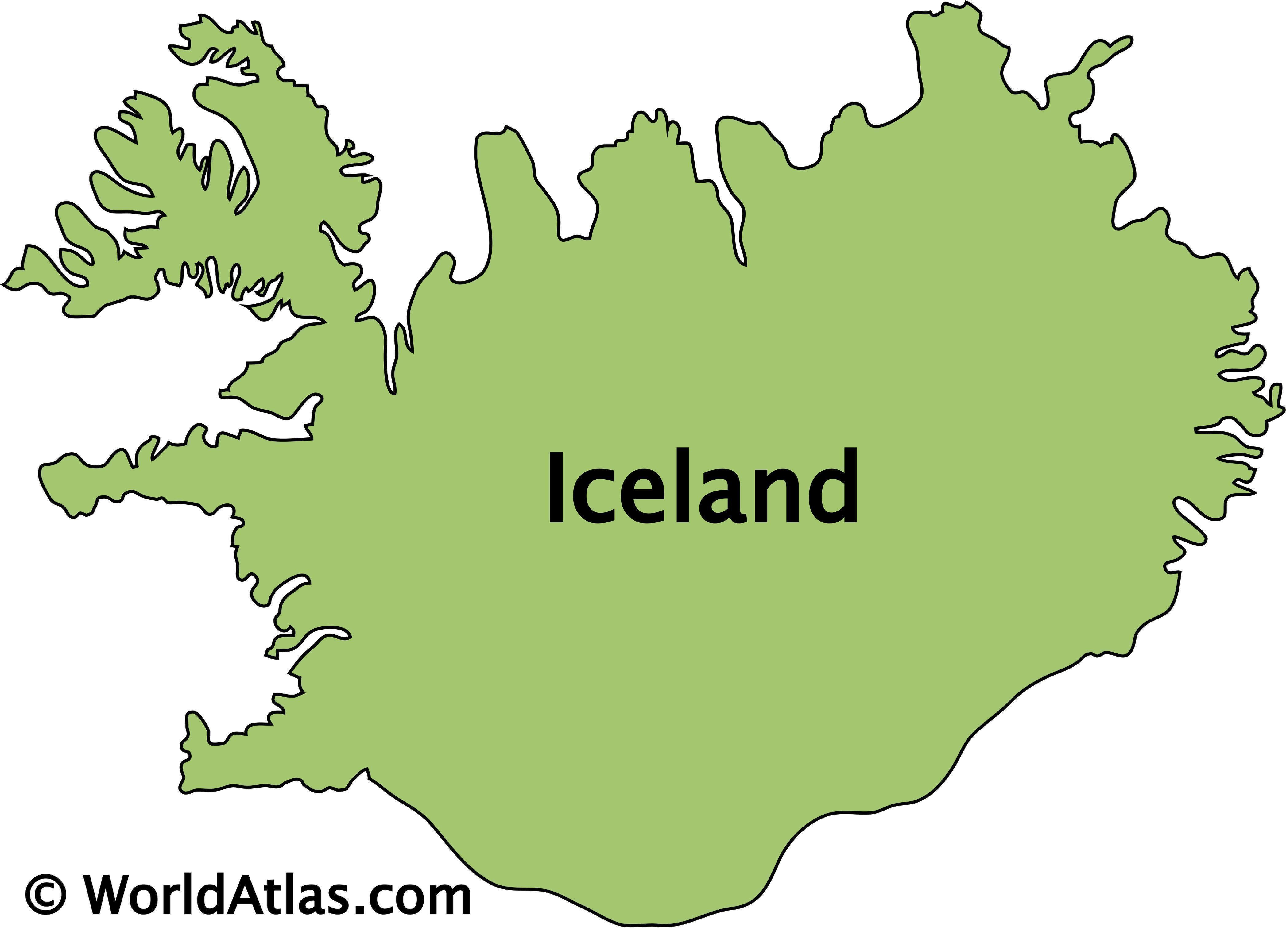 Outline Map of Iceland