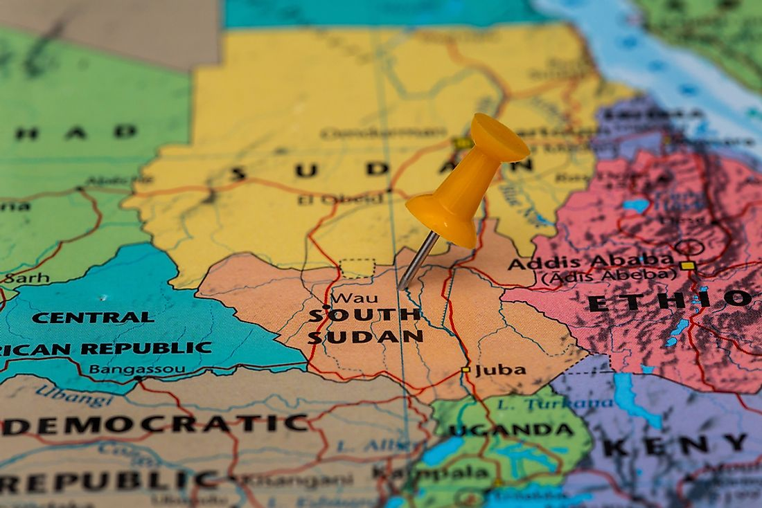 South Sudan is on the list of the world's most fragile states.