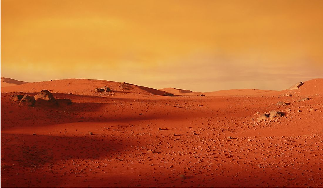 The surface of Mars has an average temperature well below freezing.