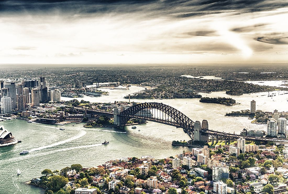 Sydney is the largest city in the state of New South Wales as well as the country of Australia.