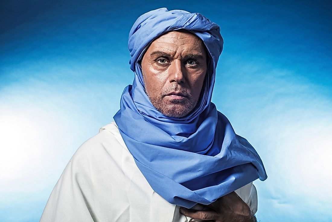 A portrait of a Berber man.
