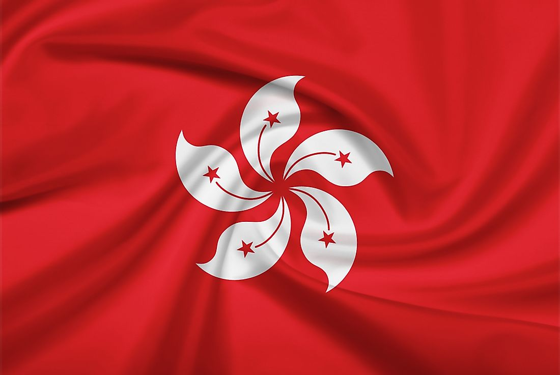 The official flag of Hong Kong.