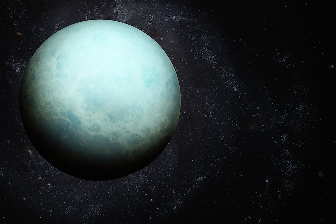 Although not the furthest from the Sun, Uranus is in fact the planet in the solar system with the lowest average temperature.
