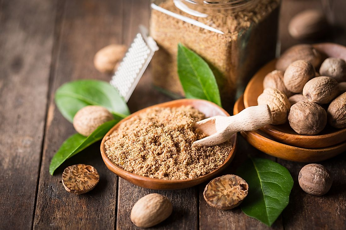 Nutmeg is derived from the seeds of the Myristica fragrans or fragrant nutmeg tree.