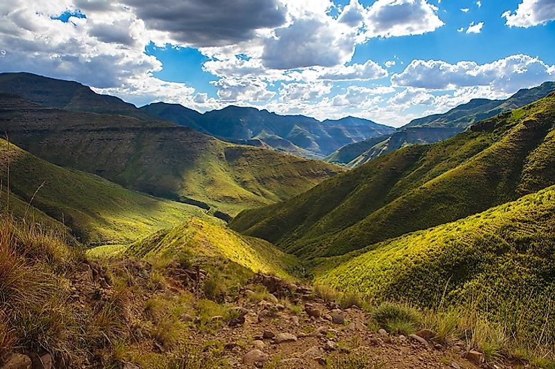 #6 Lesotho (7,090 feet)