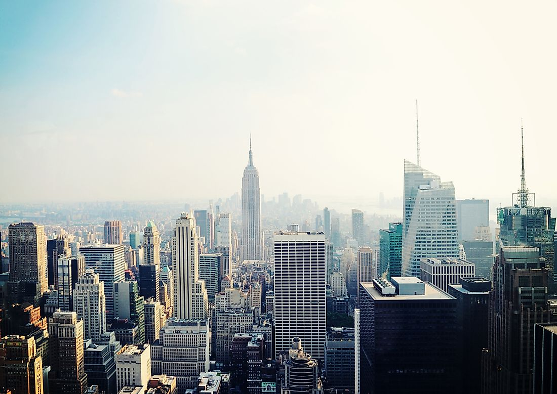 New York is home to many of the tallest buildings in the United States.