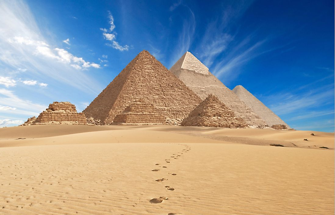 The ancient pyramids of Giza.