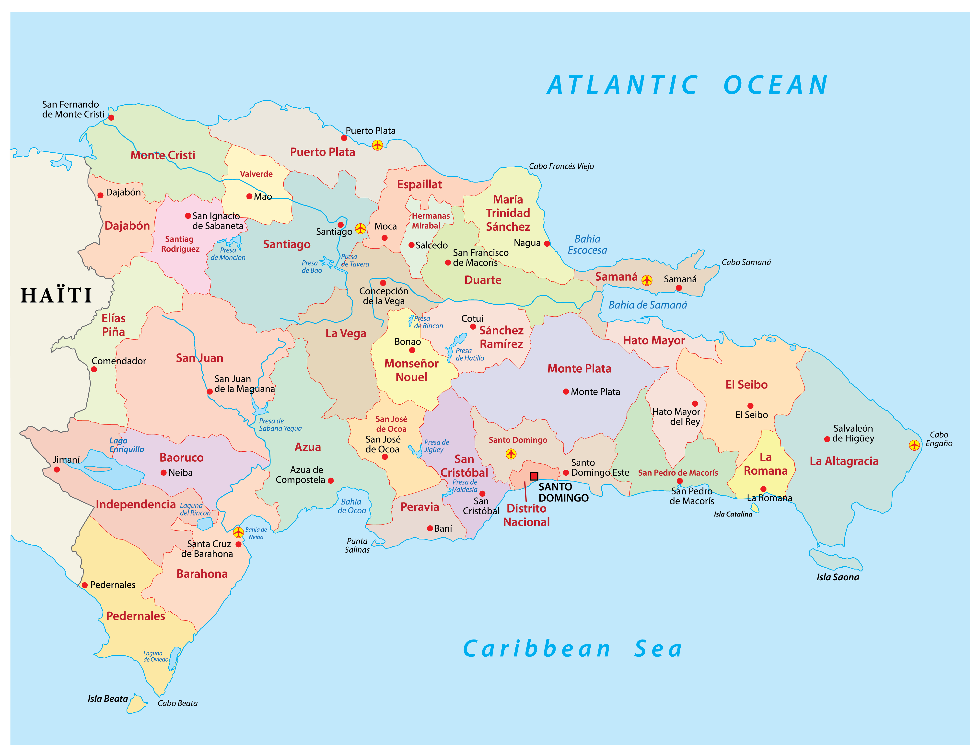 Provinces Of Dominican Republic Map