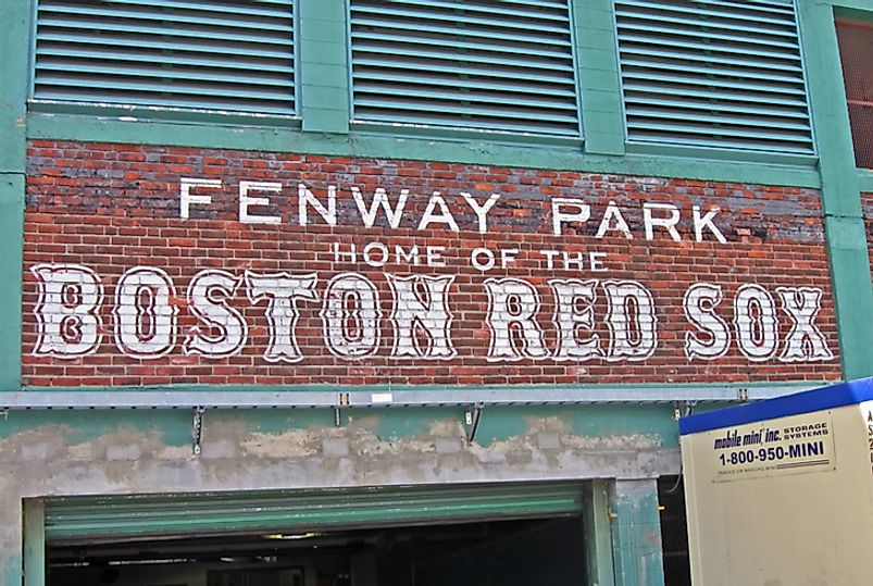 Boston's Fenway Park is the oldest stadium in the US still in use.  Editorial credit: fmua / Shutterstock.com
