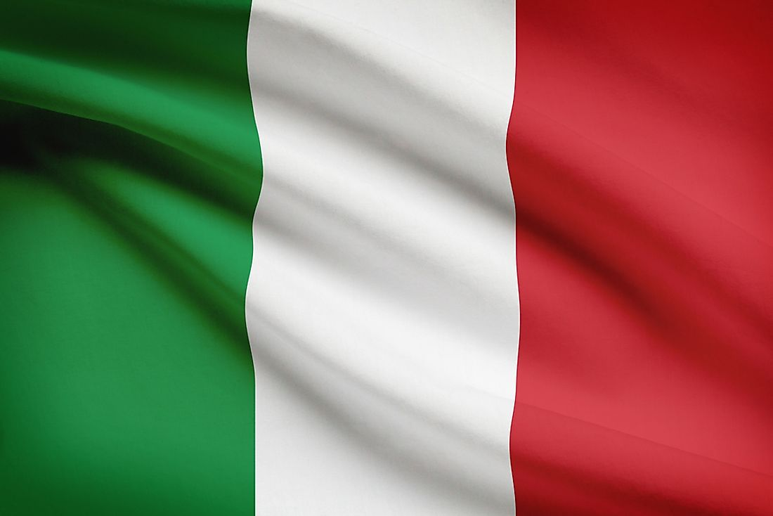 The Italian flag is shown here.