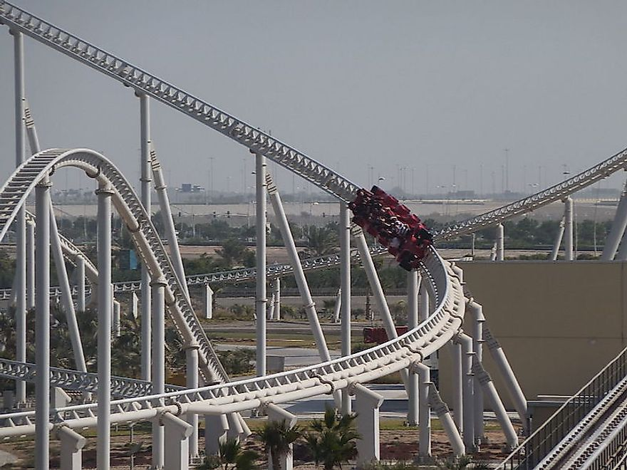 Formula Rossa that achieves an astonishing speed of 149.1mph (239km/h) and was built by Intamin.